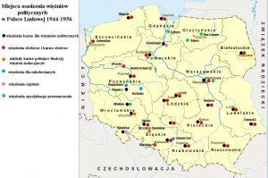 Miejsca osadzenia więźniów politycznych w Polsce Ludowej 1944-1956